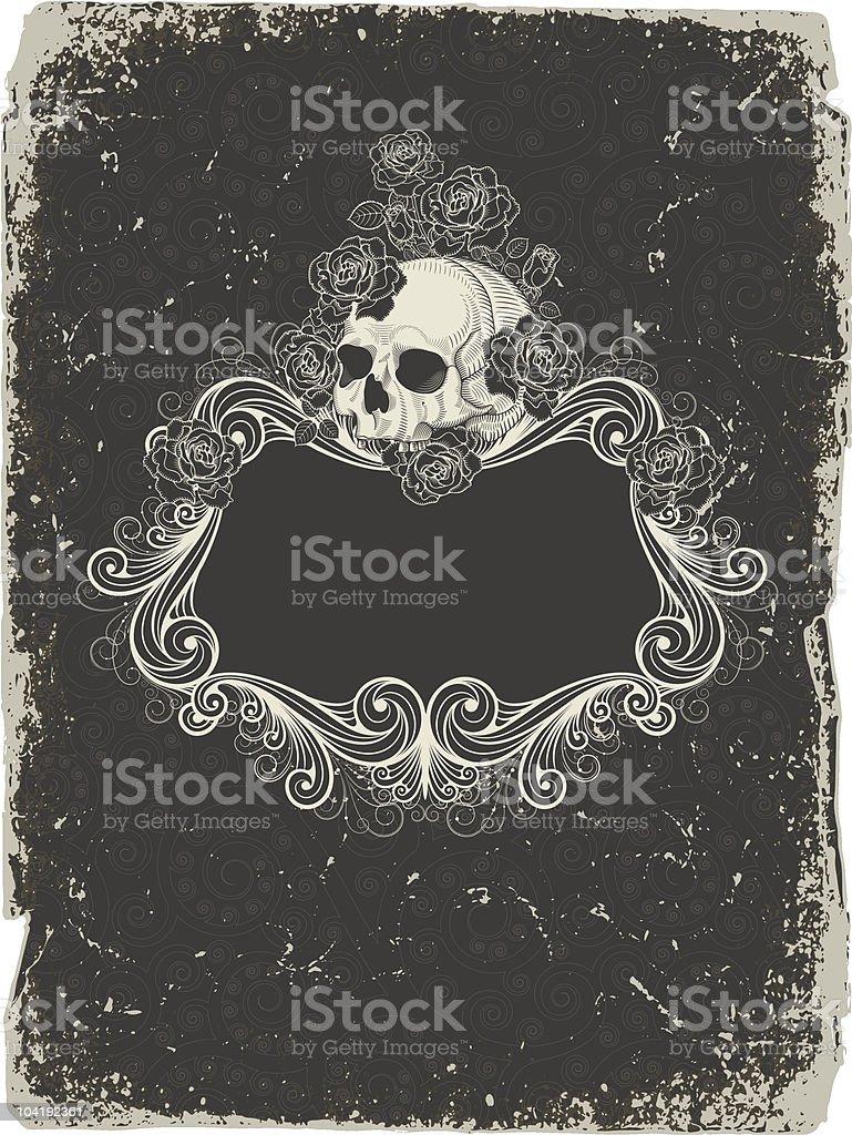 Background  with  skull vector art illustration
