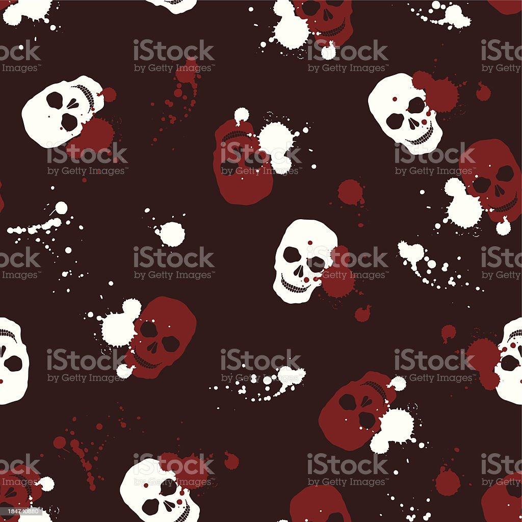 background with skulls royalty-free stock vector art