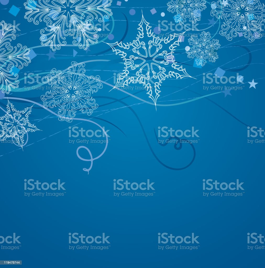 background with snowflakes royalty-free stock vector art