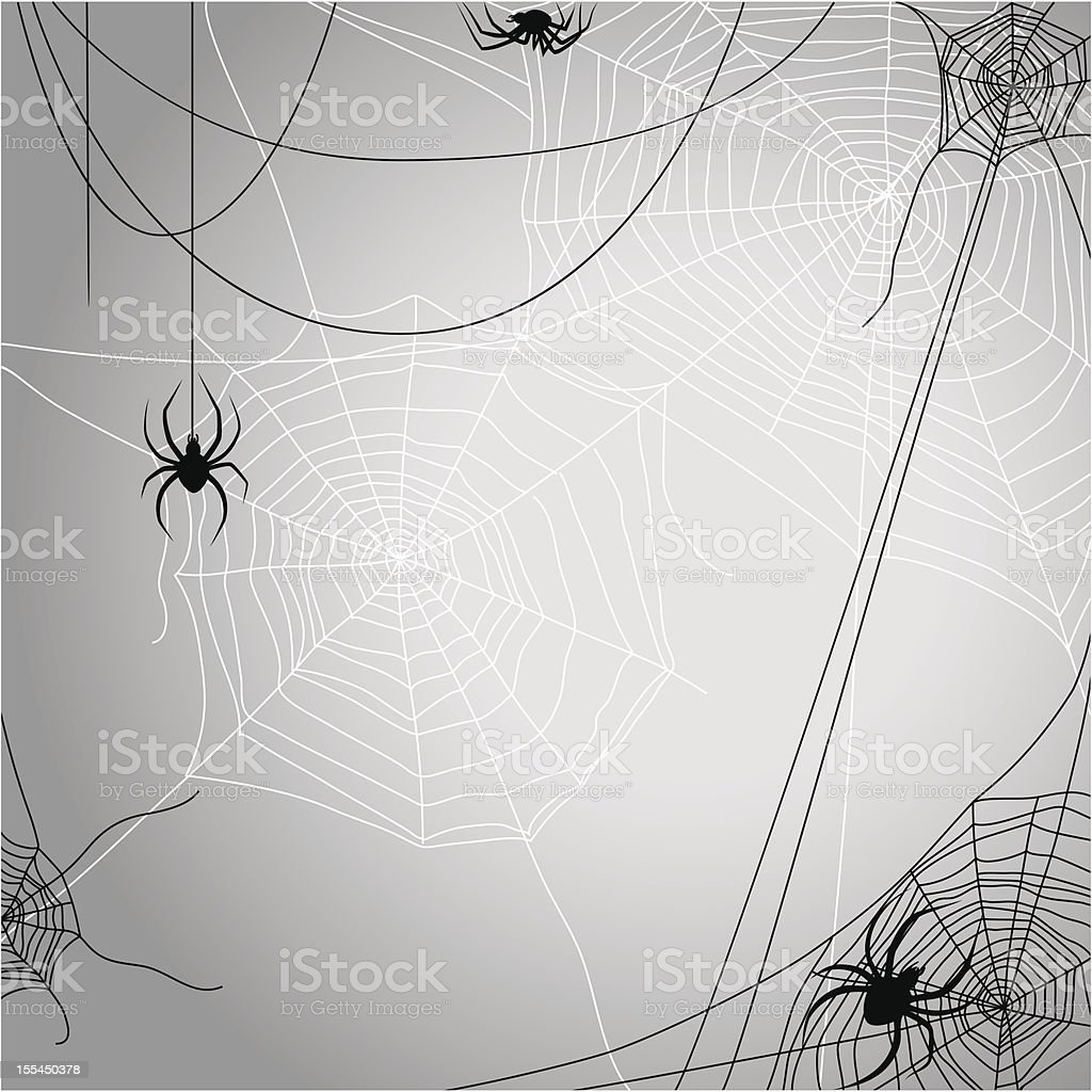 Background with spiders royalty-free stock vector art