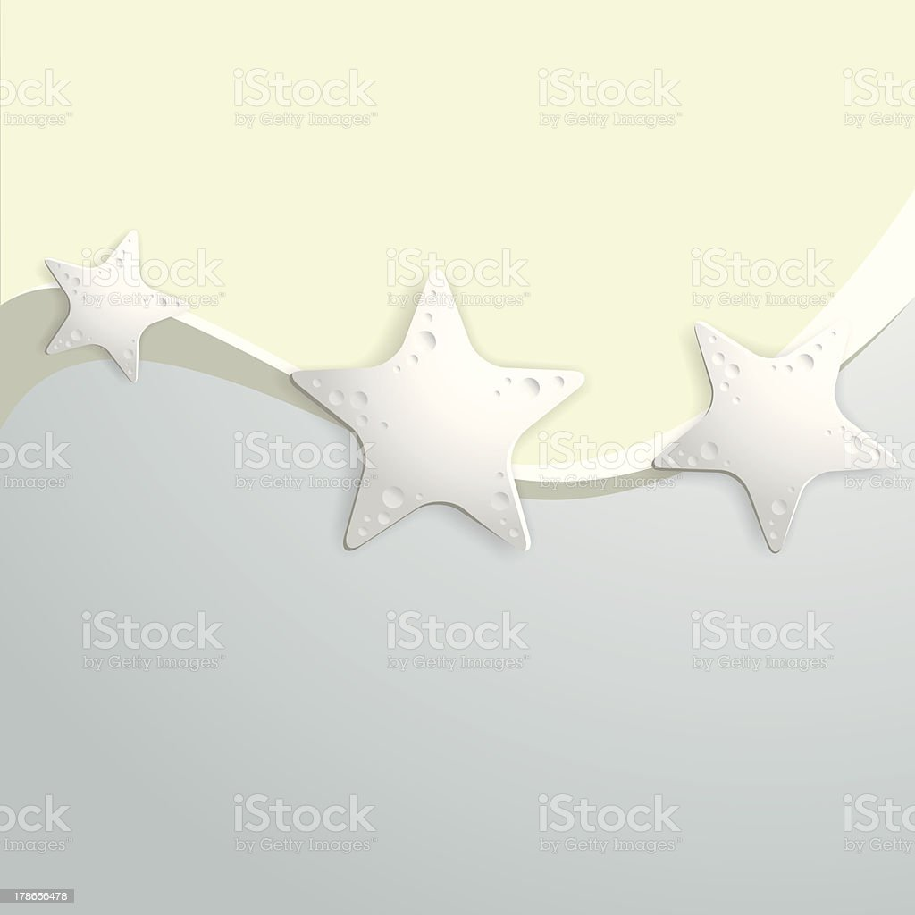 Background with starfish royalty-free stock vector art