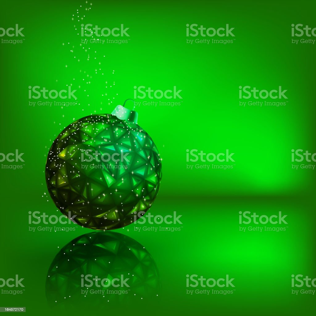Background with stars and Christmas ball. EPS 8 royalty-free stock vector art