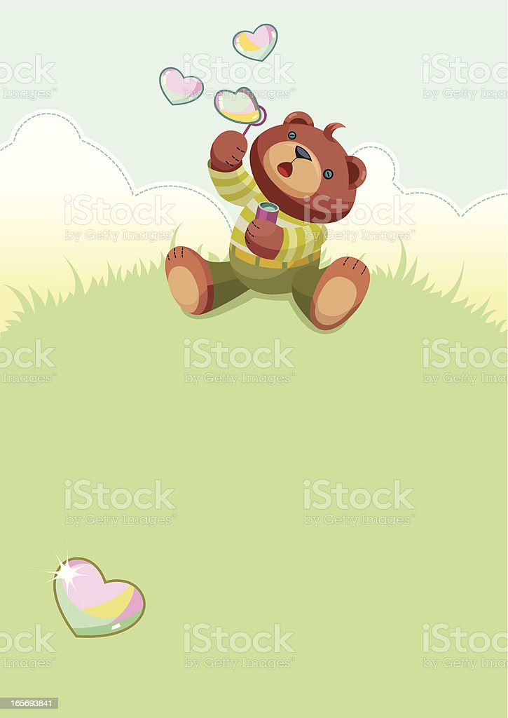 Background with teddy bear royalty-free stock vector art