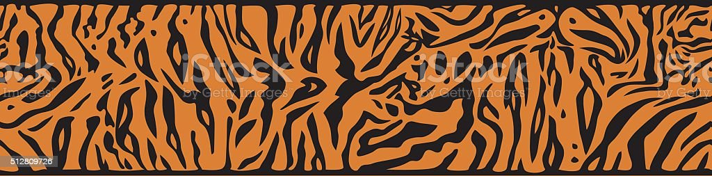 Background with Tiger skin vector art illustration