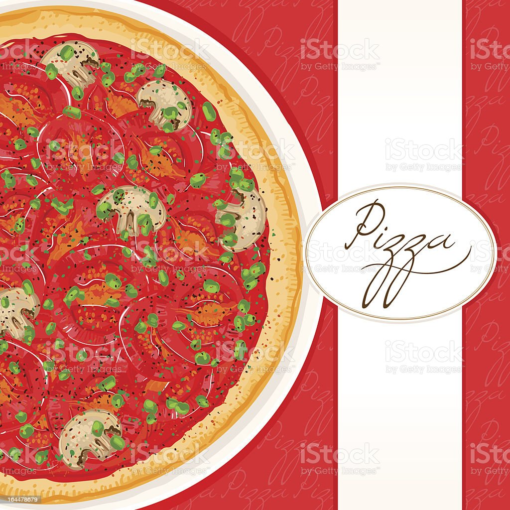 background with tomato pizza royalty-free stock vector art