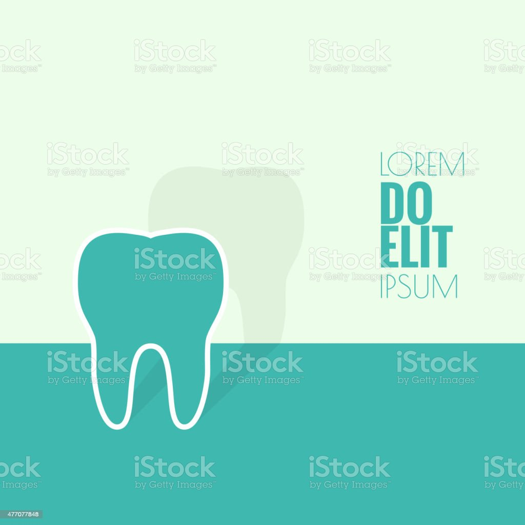 Background with tooth vector art illustration