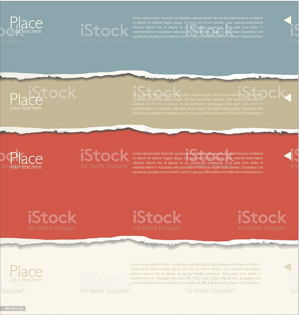 Background with torn paper aesthetic vector art illustration