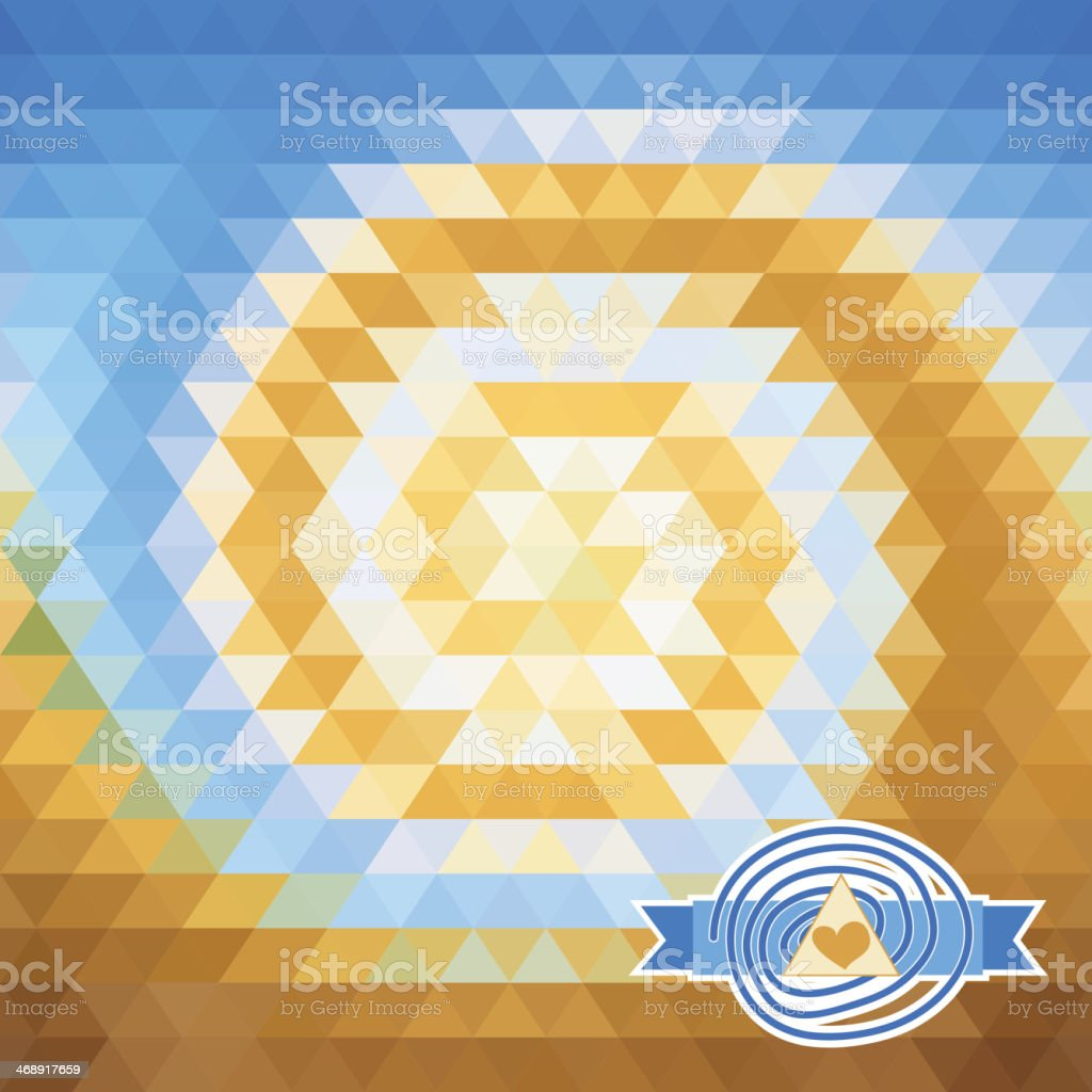 background with triangles. illusion vortex royalty-free stock vector art
