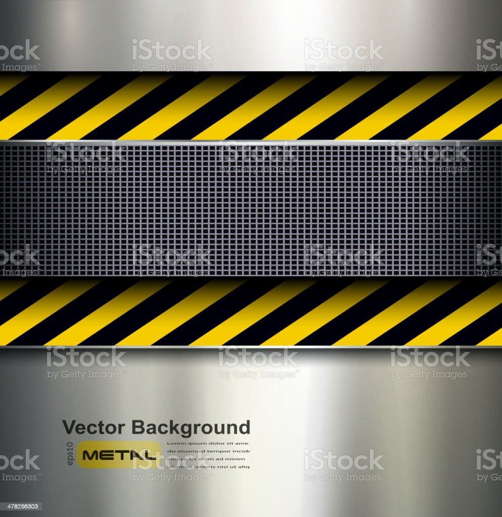 Background with warning stripes royalty-free stock vector art