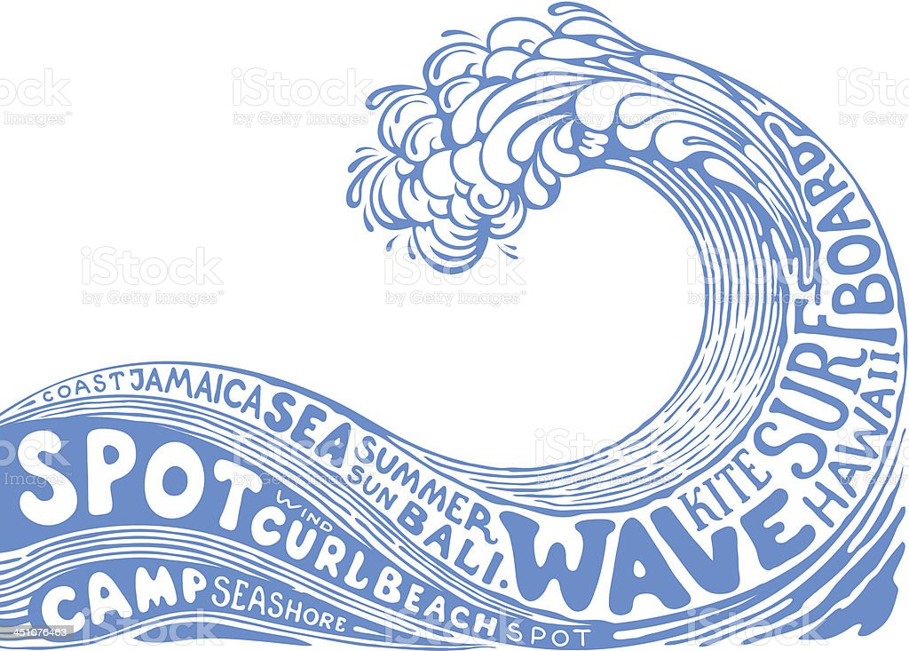 background with wave royalty-free stock vector art