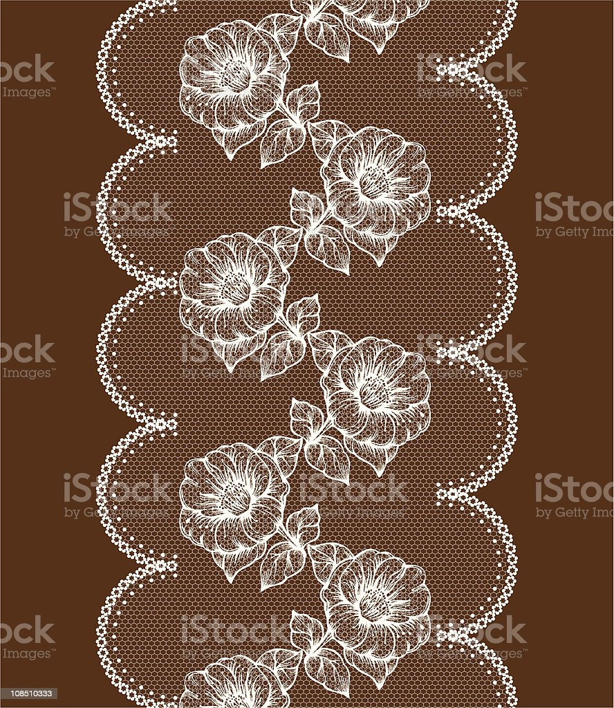 background with white floral lace royalty-free stock vector art
