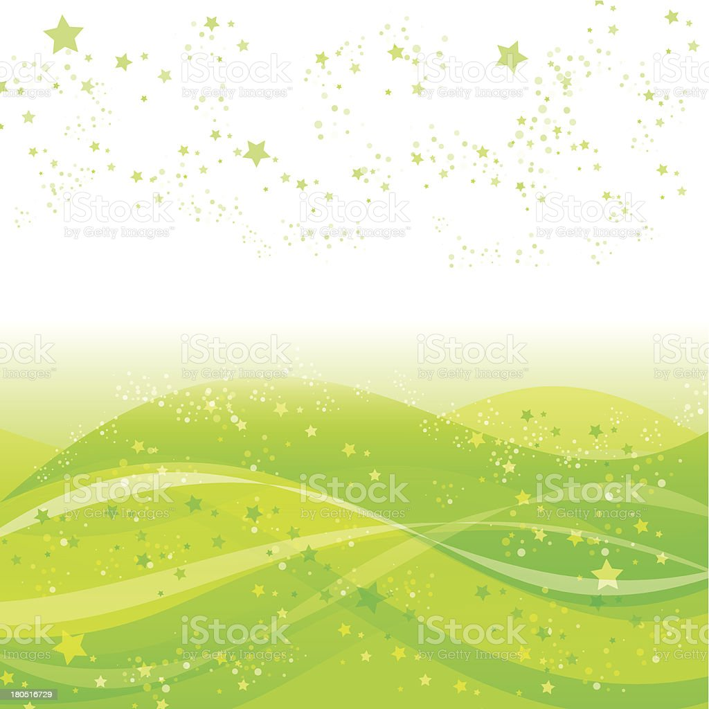 Background[Star sea]Green royalty-free stock vector art