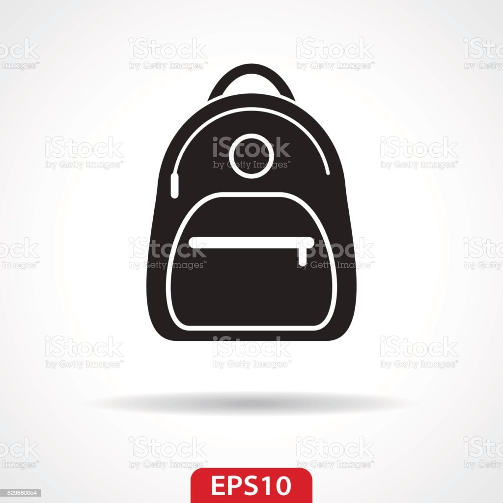 Backpack Flat Icon - Vector Illustration vector art illustration