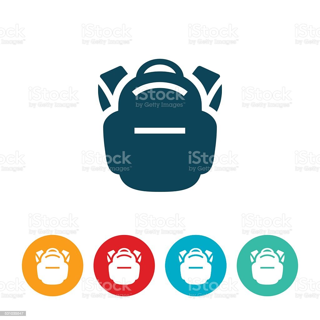 Backpack Icon vector art illustration