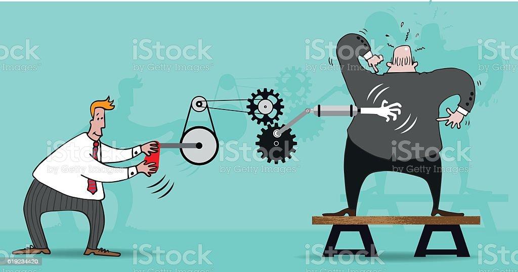 Backscratcher vector art illustration