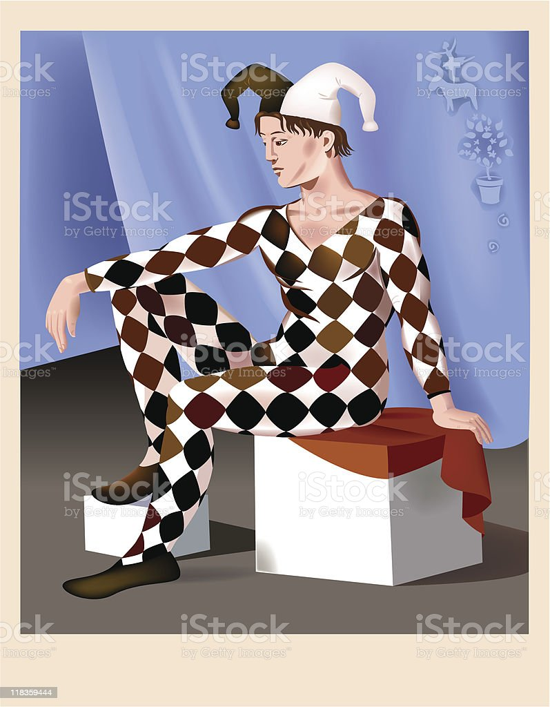 Backstage. Harlequin. royalty-free stock vector art