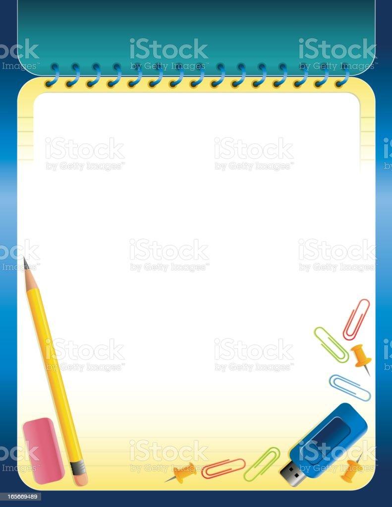 Back-to-school background border vector art illustration