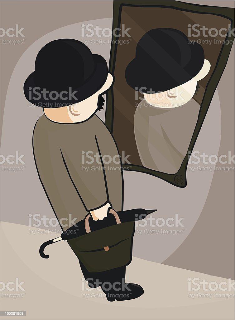 Backwards Mirror vector art illustration