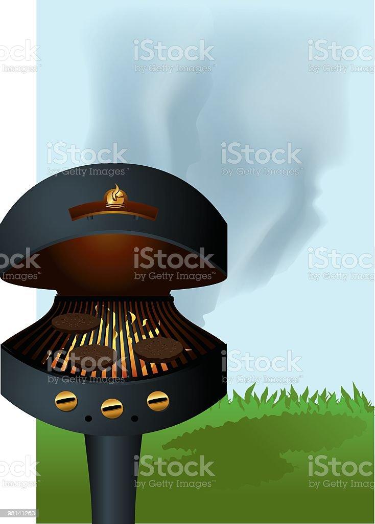 Backyard Barbecue royalty-free stock vector art