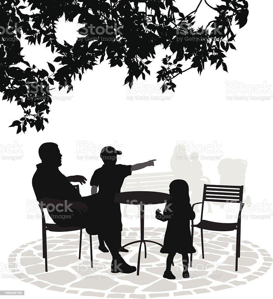 BackYard Family royalty-free stock vector art
