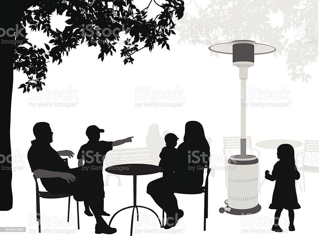 BackYard Heater vector art illustration