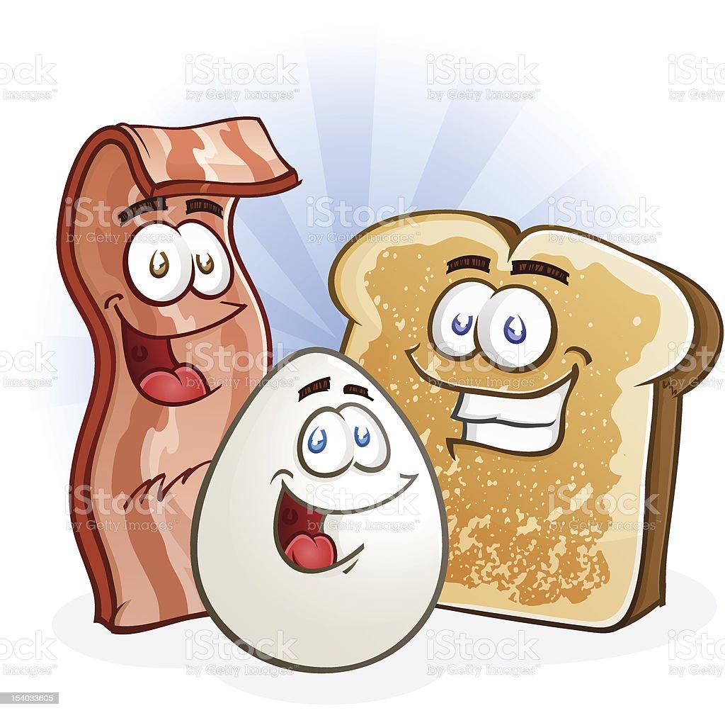 Bacon Egg Toast vector art illustration
