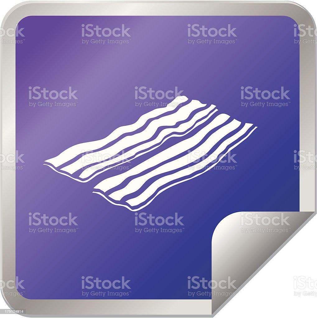 Bacon sticker icon royalty-free stock vector art