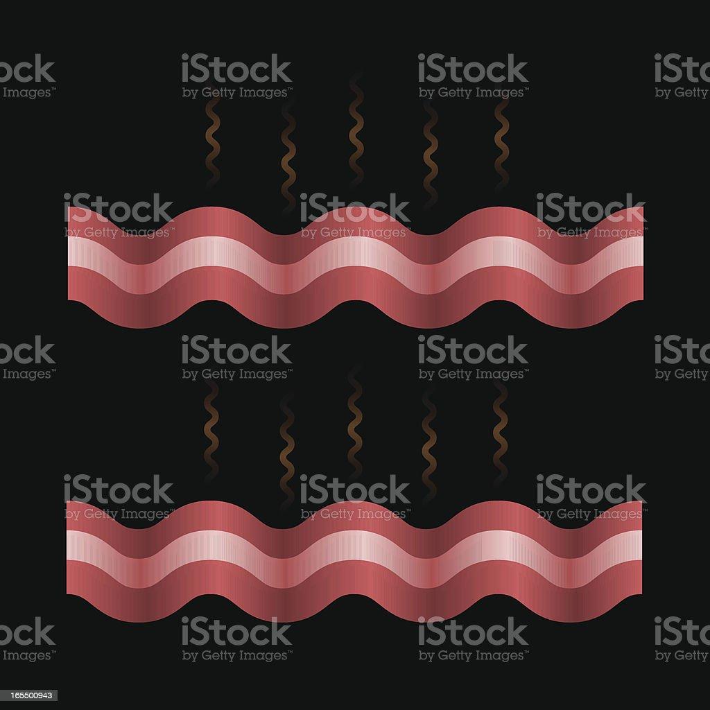 Bacon Strips vector art illustration