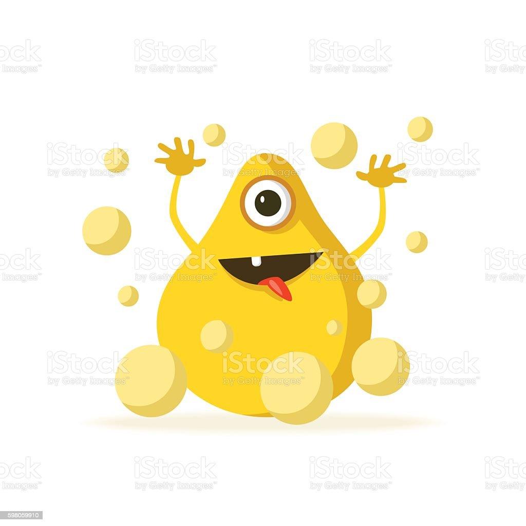 Bacteria character. Cartoon vector illustration. Microbiology vector art illustration