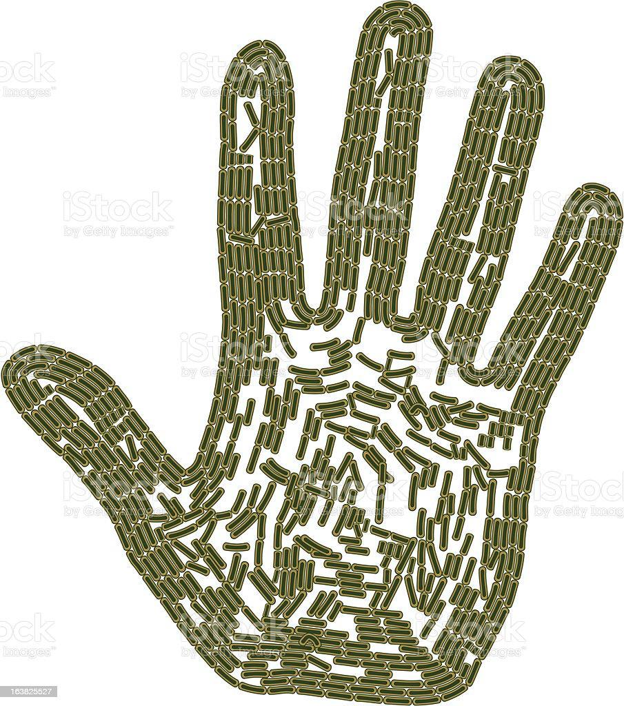 Bacteria Hand royalty-free stock vector art