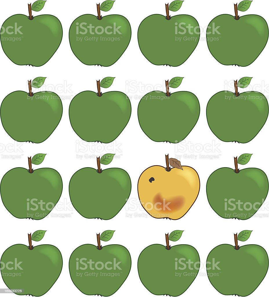 Bad apple - incl. jpeg royalty-free stock vector art