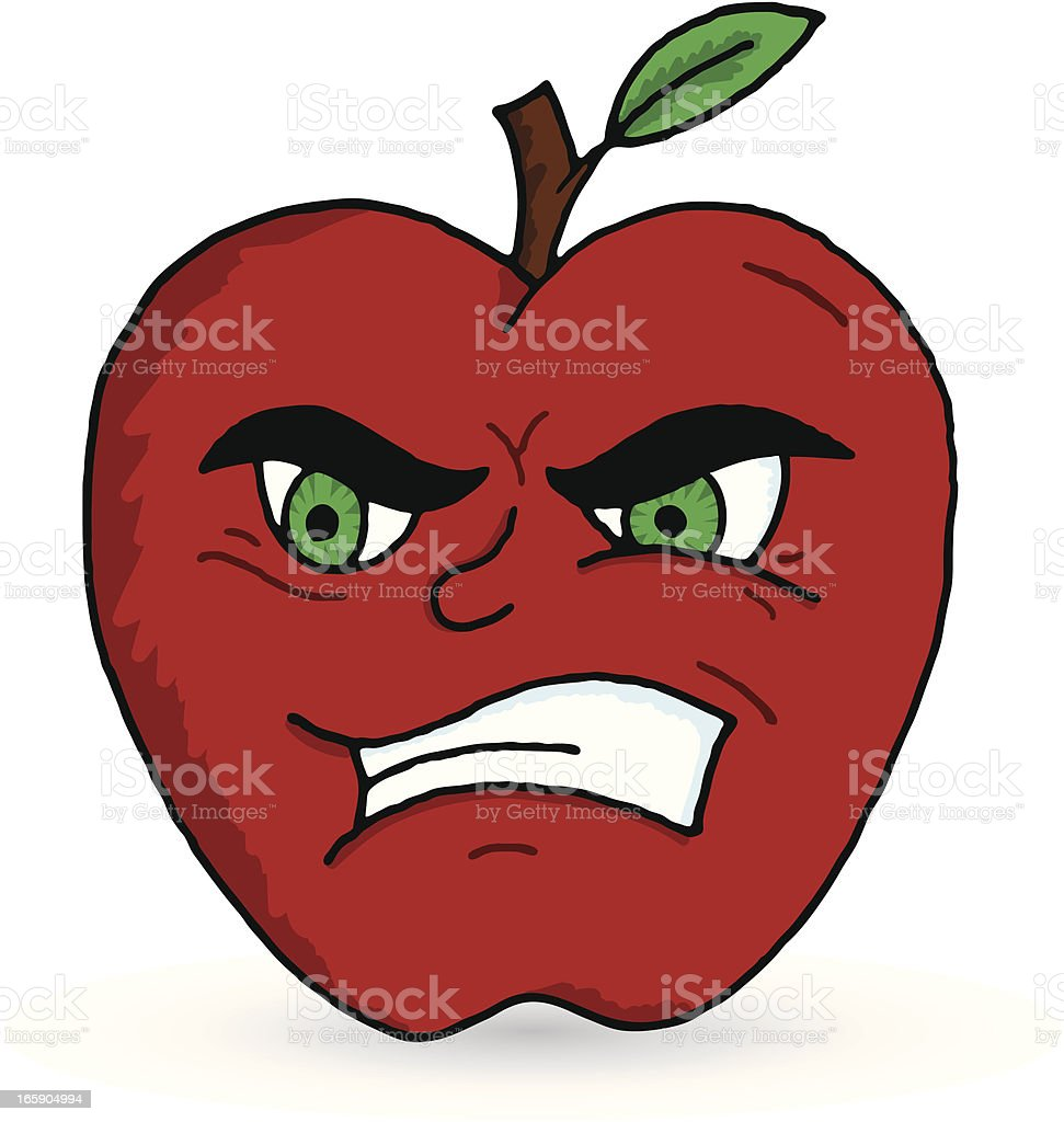 Bad Apple royalty-free stock vector art