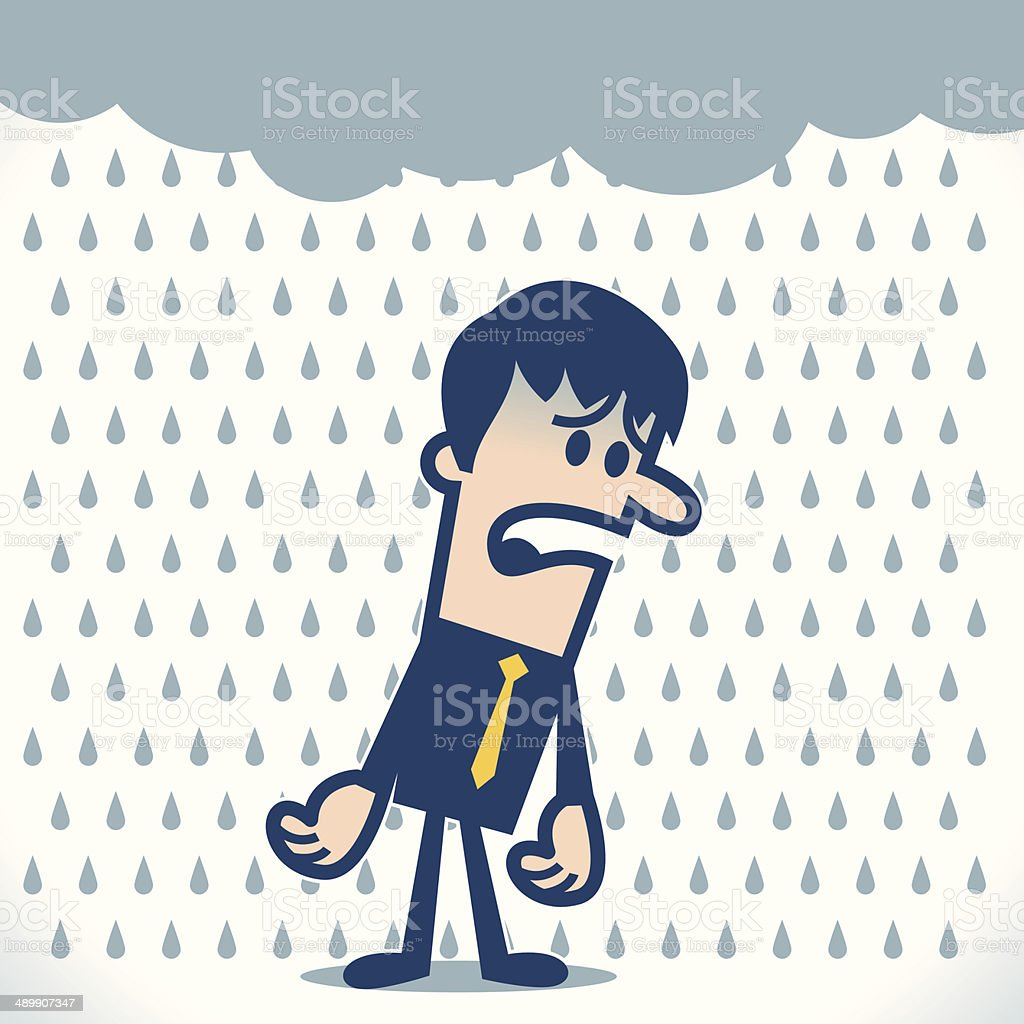 Bad day vector art illustration