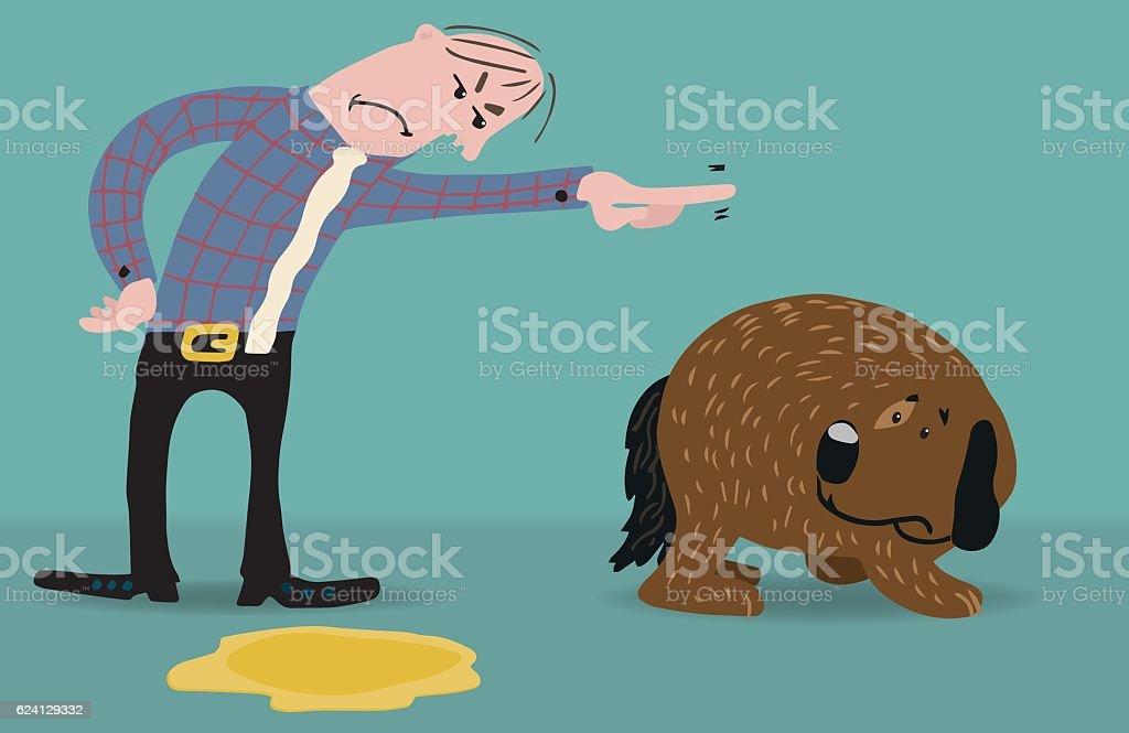 Bad dog vector art illustration