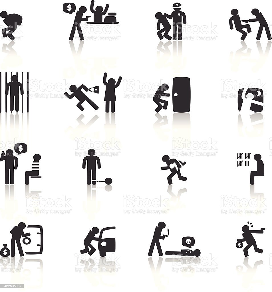 Bad Guy Icon vector art illustration