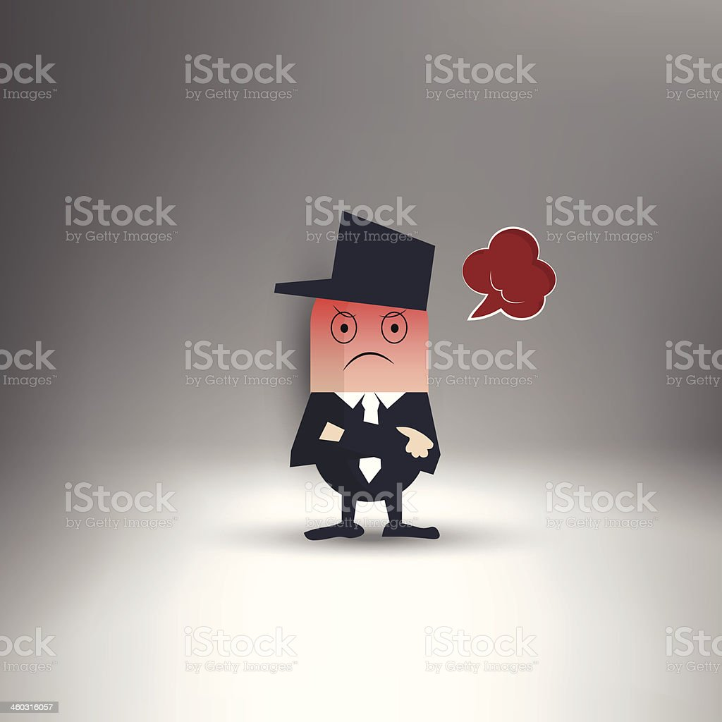 Bad mood royalty-free stock vector art