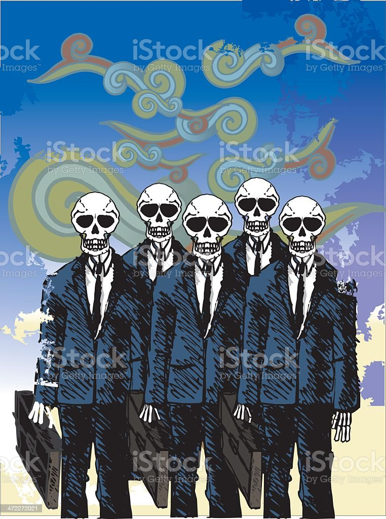 bad news - death corporate squad royalty-free stock vector art