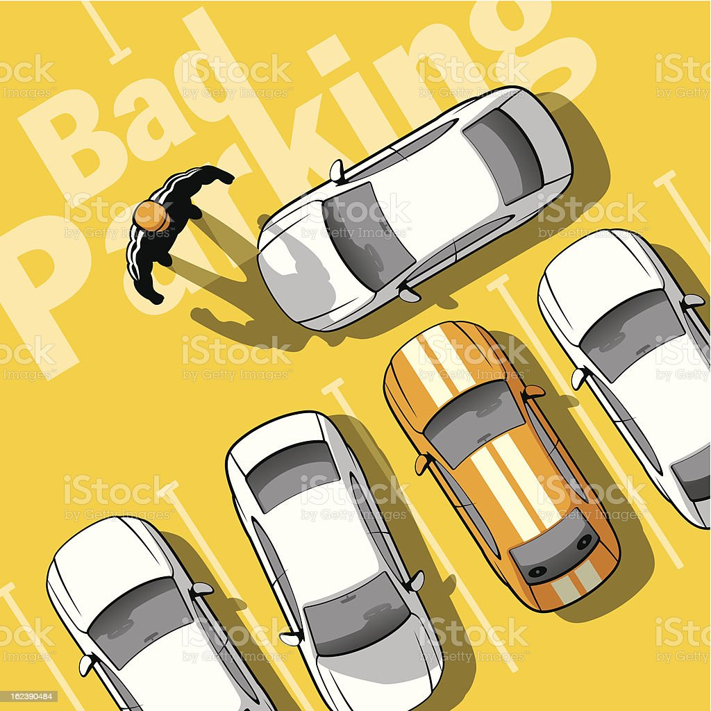 Bad parking royalty-free stock vector art