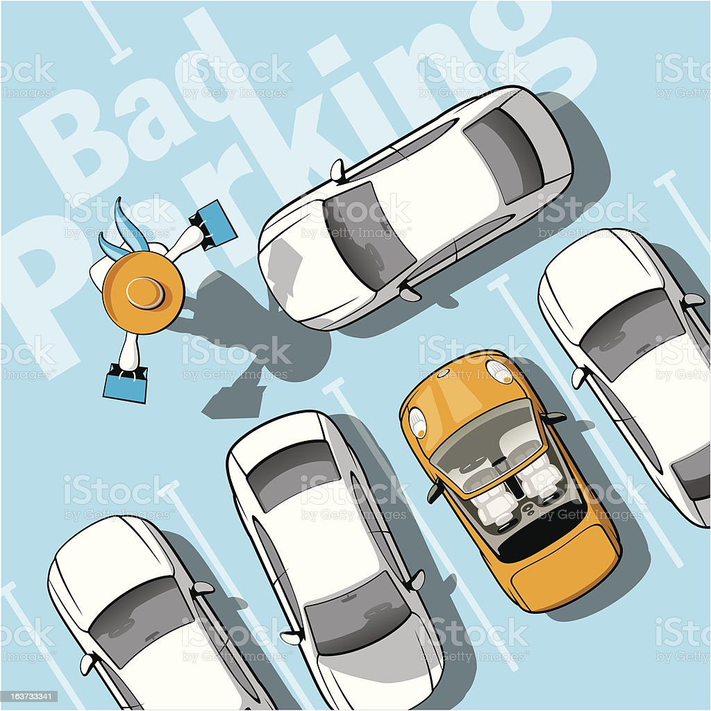 Bad parking royalty-free stock vector art