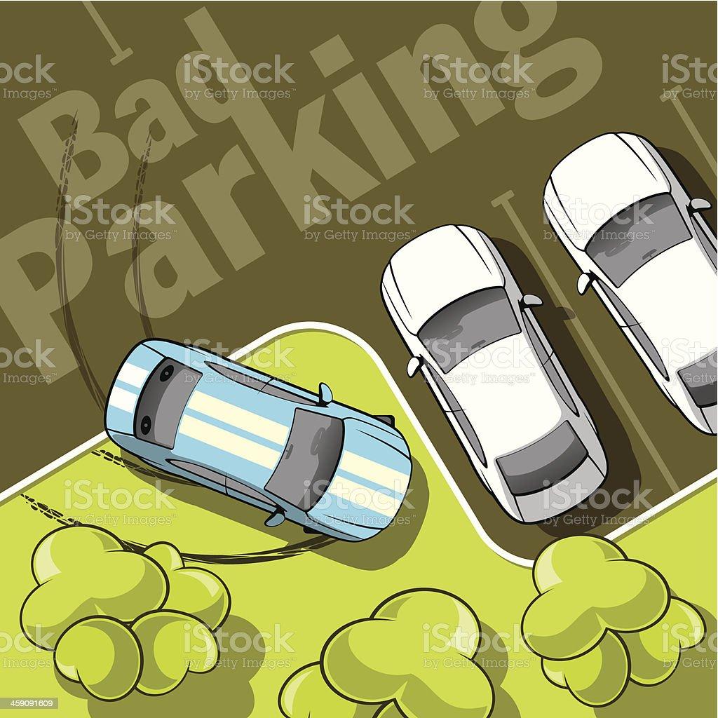Bad parking vector art illustration