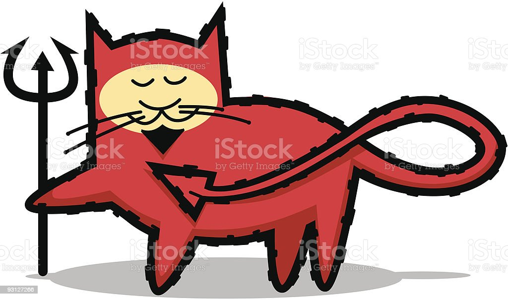 Bad red cat royalty-free stock vector art