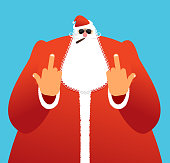 Bad Santa shows to fuck. Angry Claus. Not good Christmas