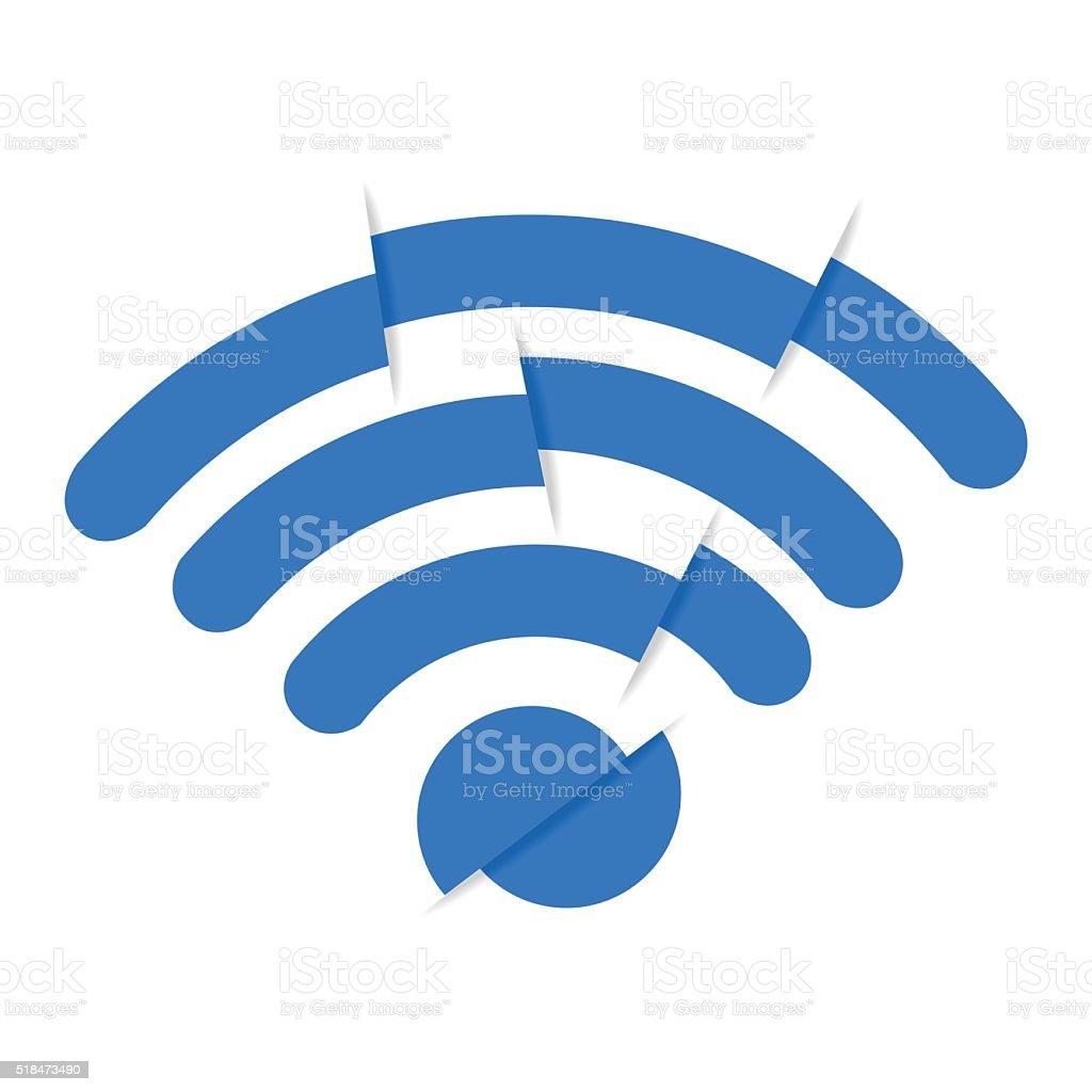 bad signal vector art illustration