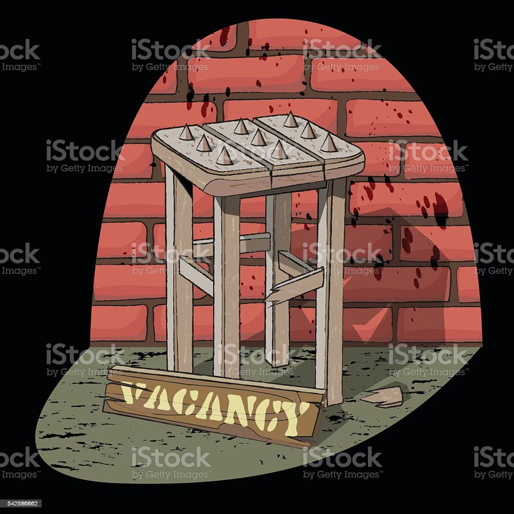bad vacancy vector art illustration