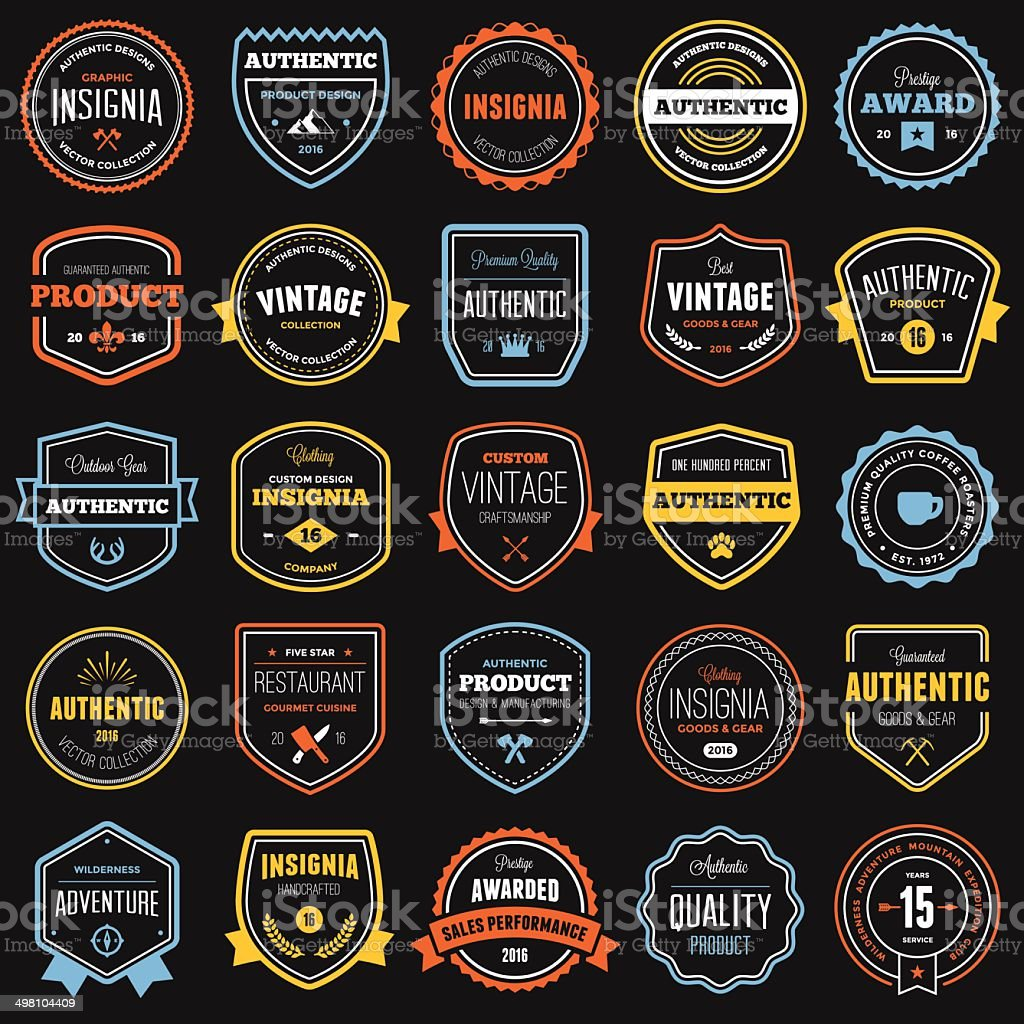 Badge and label collection vector art illustration