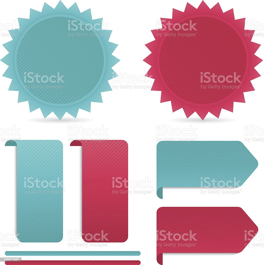 badge and label for web royalty-free stock vector art