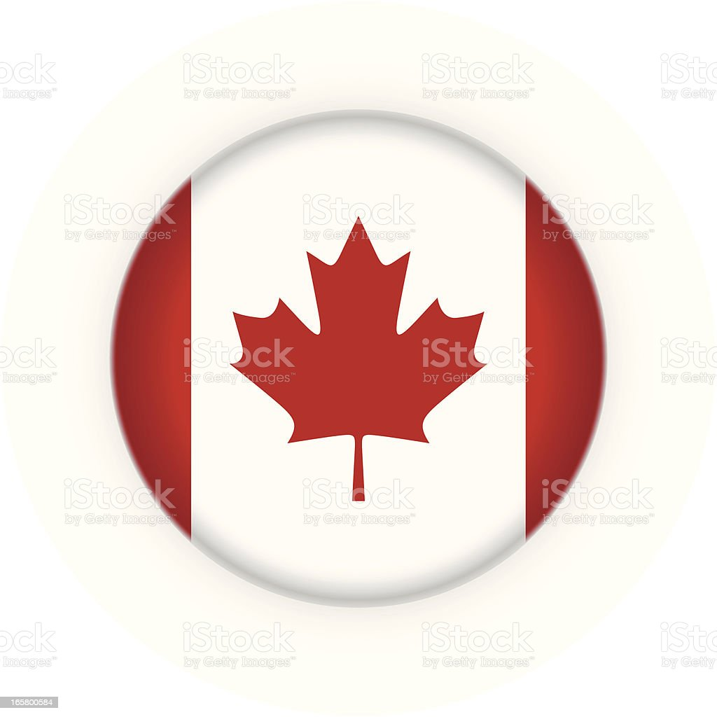 Badge - Canadian flag vector art illustration