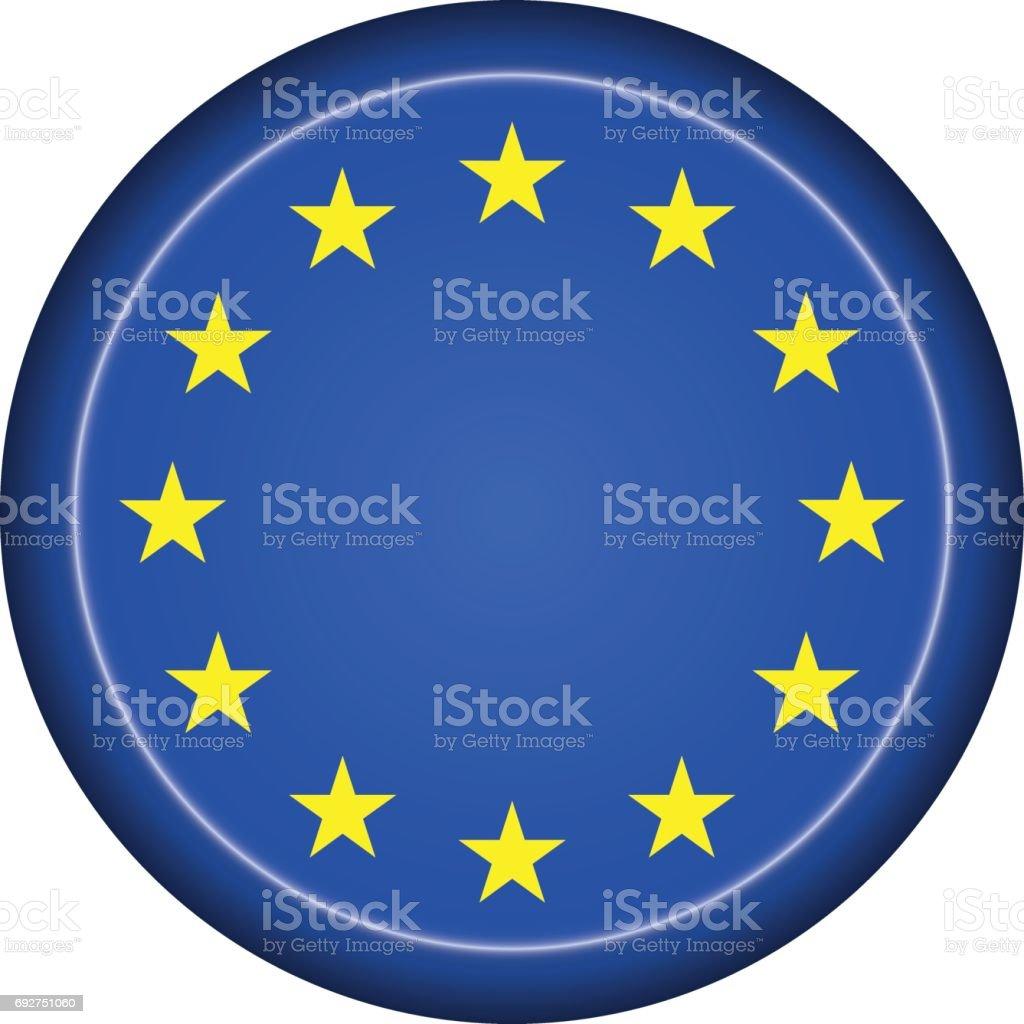 badge EU flag vector art illustration
