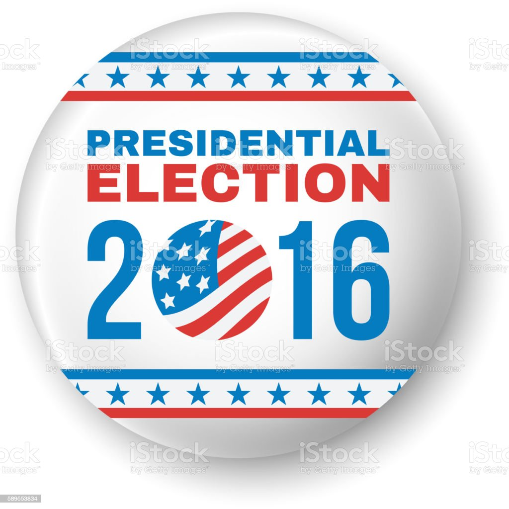 Badge for Presidential Election 2016. Vector vector art illustration