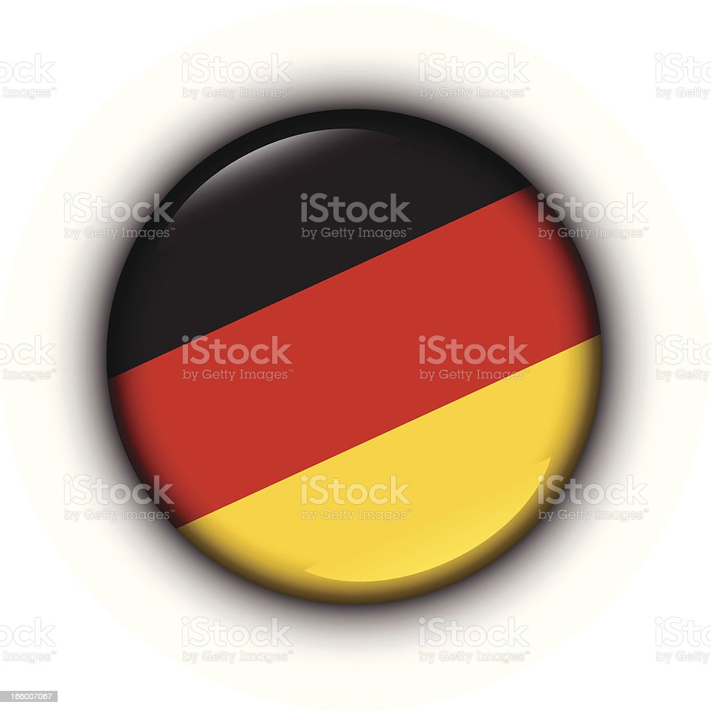 Badge - German flag vector art illustration